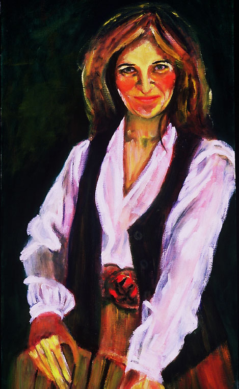 """Carmen Tafolla"", Oil, 20″x36″ Chicana Writer Series"