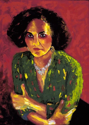 """Denise Chavez"", Oil, 24″x32″ Chicana Writer Series"
