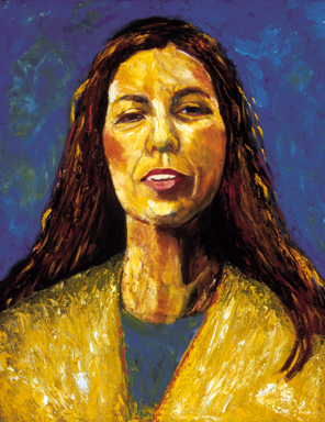 """Norma Cantu"", Oil, 24″x30″ Chicana Writer Series"