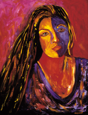 """Ana-Castillo"", Oil, 24″x36″ Chicana Writer Series"