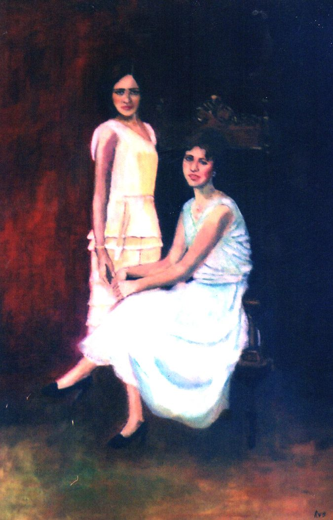 """Sisters"", Oil, Private Collection"