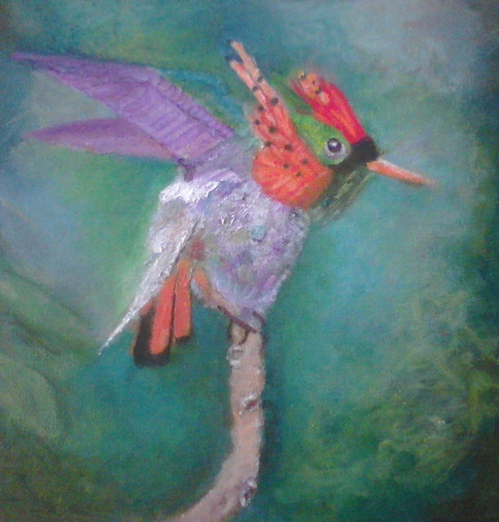"COLIBRí....OIL 10"" X10""......$50.00"